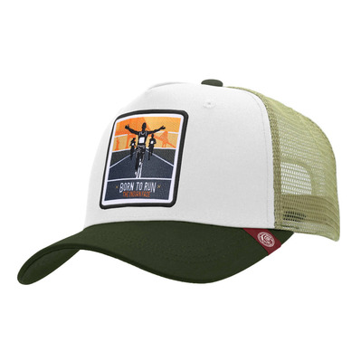 THE INDIAN FACE - BORN TO RUN - Gorra white/green