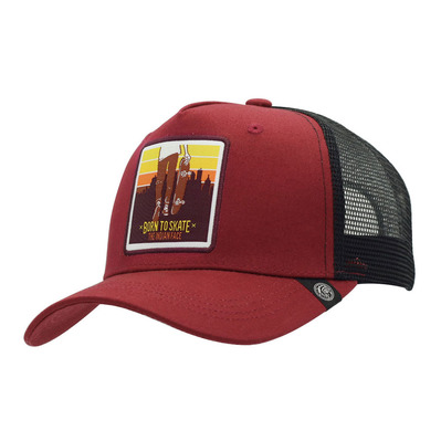 THE INDIAN FACE - BORN TO SKATE - Cap - red/black