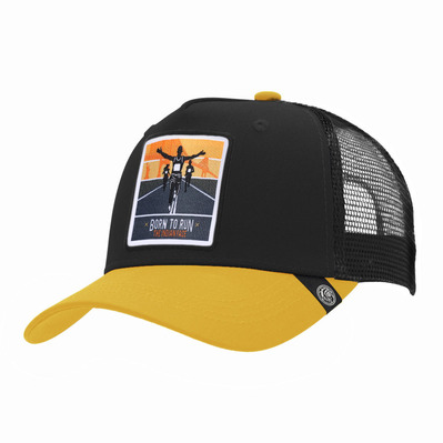 THE INDIAN FACE - BORN TO RUN - Gorra black/yellow