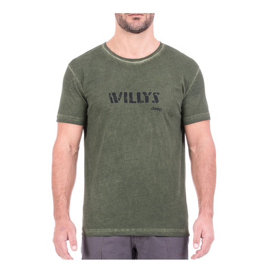 JEEP - J8S WILLYS - Tee-shirt Homme pine green/black