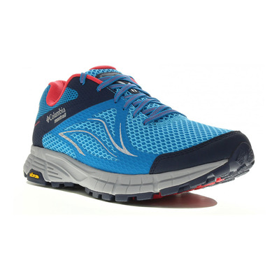 COLUMBIA - MOJAVE TRAIL™ II OUTDRY™ - Trail Shoes - Women's - blue chill/red came