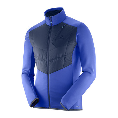 SALOMON - PULSE WARM - Jacket - Men's - surf the web/night sky
