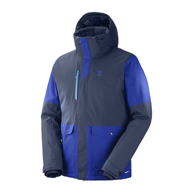 SALOMON - STORMTRACK - Ski Jacket - Men's - night sky/sky diver