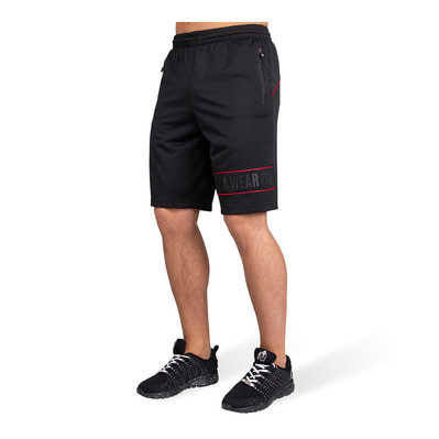 GORILLA WEAR - BRANSON - Short hombre black/red