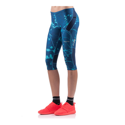 MACRON - KONA PRO RUN FBG - 3/4 Leggings - Women's - cosmos/emerald