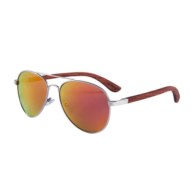 FELER - AVIATOR - Polarised Sunglasses - silver/red