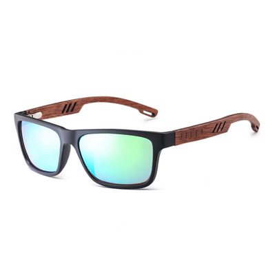 FELER - CLIFF LAYERED - Polarised Sunglasses - black/green
