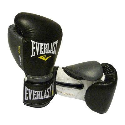 EVERLAST - POWERLOCK - Boxing Gloves - black/grey