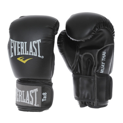 EVERLAST - S.LEATHER THAI BOXING - Thai Boxing Gloves - black