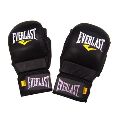EVERLAST - LEATHER STRIKING - MMA Training Gloves - black