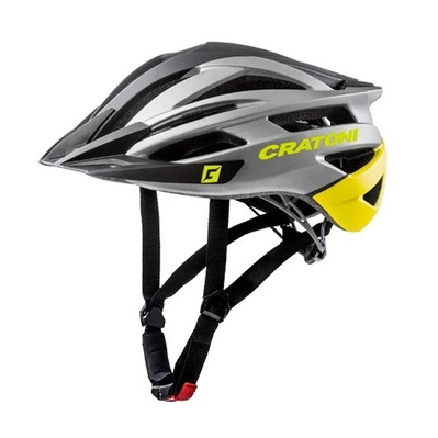 CRATONI - AGRAVIC - Casco BTT black/anthracite/yellow mat