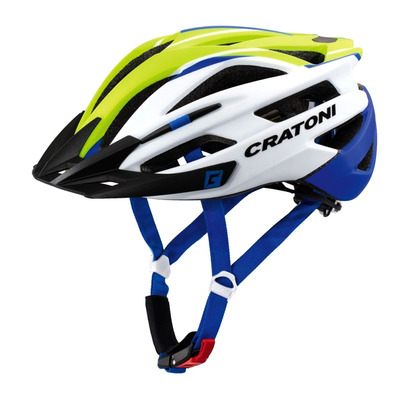 CRATONI - AGRAVIC 2018 - Casco BTT lime/white/blue matt