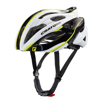 CRATONI - C-BOLT 2017 - Casco carretera white/black/lime glossy