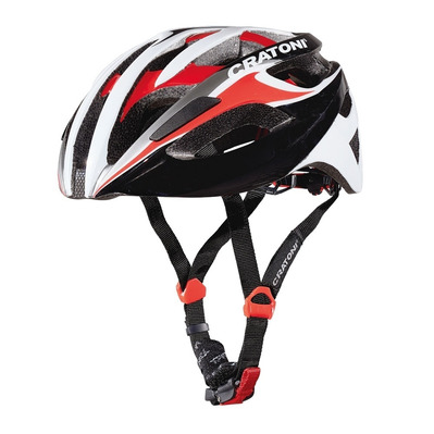 CRATONI - C-BREEZE 2016 - Casco carretera black/white/red glossy