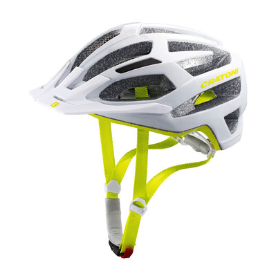 CRATONI - C-FLASH - Casco BTT white/lime glossy