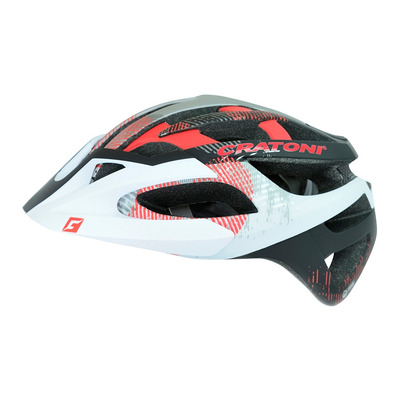 CRATONI - C-HAWK 2015 - Casco BTT white/black/red rubber