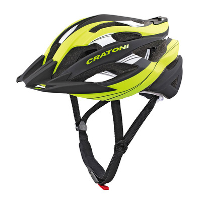 CRATONI - C-TRACER - Casco BTT lime/black rubber