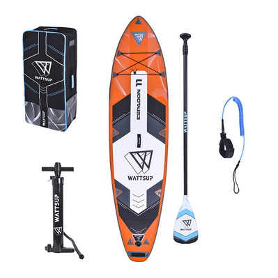 WATTSUP - ESPADON 11' 2020 - Inflatable SUP Board - orange + Accessories