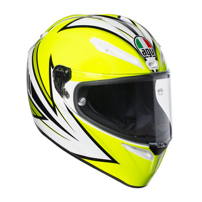 AGV - VELOCES MULTI - Full Face Helmet - yellow fluo/white