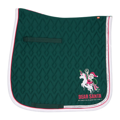 IMPERIAL RIDING - LIGHT UP - Dressage Saddle Pad - christmas green/fushia