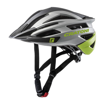 CRATONI - AGRAVIC - Casco BTT black- anthracite lime matt