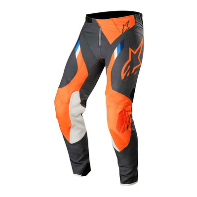 alpinestars - SUPERTECH - Pants - Men's - anthracite/orange fluo