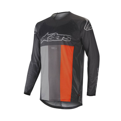 alpinestars - TECHSTAR VENOM - Jersey - Men's - anthracite/grey/orange fluo