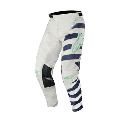alpinestars - RACER BRAAP - Pants - Men's - grey/dark navy/teal