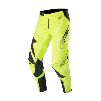 alpinestars - TECHSTAR FACTORY - Pants - Men's - black/yellow fluo