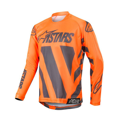 alpinestars - RACER BRAAP - Jersey - Men's - anthracite/orange fluo/sand
