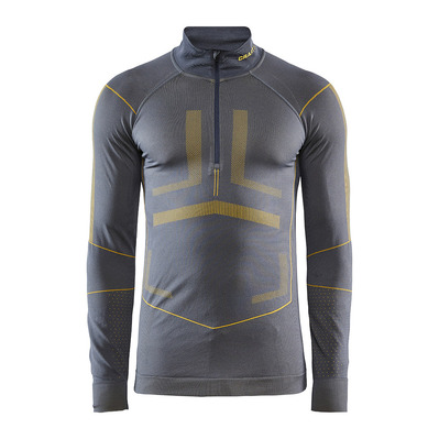 CRAFT - ACTIVE INTENSITY ZIPPE - Base Layer - Men's - asphalt/buzz