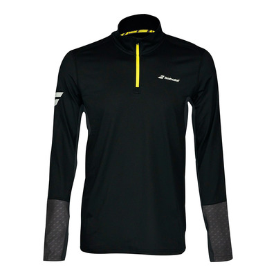 BABOLAT - CORE 1/2 ZIP - Camiseta hombre black/rabbit