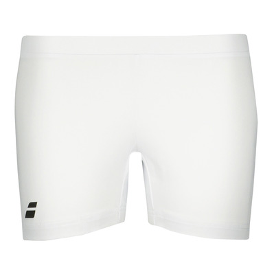 BABOLAT - CORE SHORTY - Mallas cortas mujer white/white