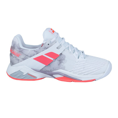 BABOLAT - PROPULSE FURY ALL COURT 2018 - Zapatillas tenis mujer white/fluo strike