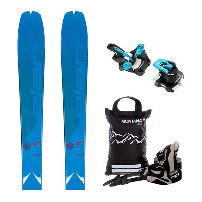ELAN - IBEX 84 PACK RANDO - Touring Skis + Bindings - ALPINIST 9 black/turquoise + Skins