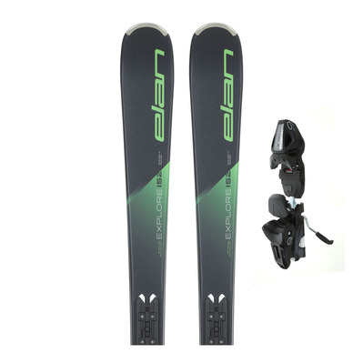 ELAN - EXPLORE 6 19/20 - Piste/All Mountain Skis - green + Bindings - EL 9.0 GW SHIFT B85 solid black/black