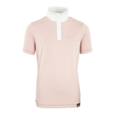 BR EQUITATION - APRIL - Competition Shirt - Junior - silver pink