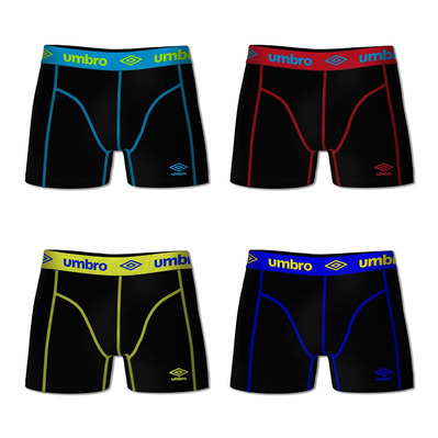 UMBRO - COTON - Boxers x4 hombre blue/red/yellow/navy