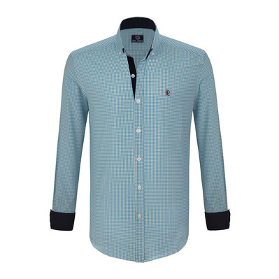 PAUL PARKER - GE 113 2019 - Shirt - Men's - turquoise/white
