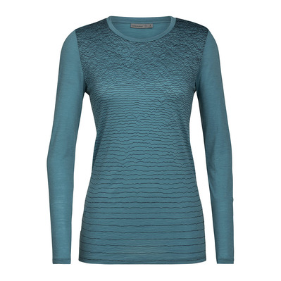 ICEBREAKER - SPECTOR LSCAPELN - T-shirt Donna blue spruce