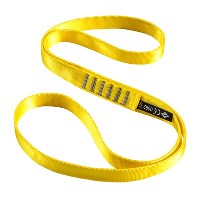 BLACK DIAMOND - NYLON RUNNER - Anello di fettuccia 60 cm yellow