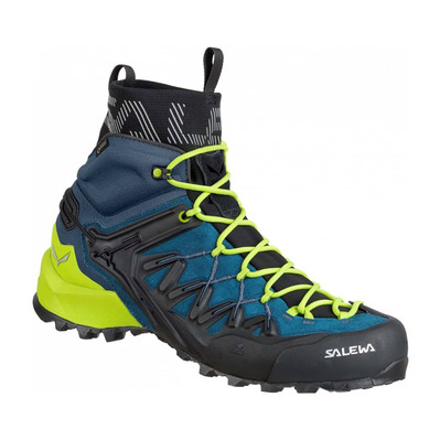 SALEWA - WILDFIRE EDGE MID GTX - Chaussures approche Homme poseidon/cactus