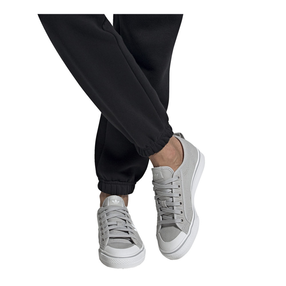 ADIDAS Adidas NIZZA TREFOIL W - Sneakers Femme gretwo/ftwwht ...