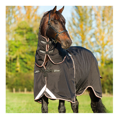 HORSEWARE - RAMBO OPTIMO TURNOUT - Manta impermeable 0g black oran