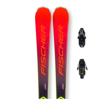 FISCHER - RC4 THE CURV TI AR + RC4 Z11 PR - Pack skis piste + Fixations