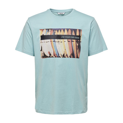 ONLY & SONS - KNIT CO100 - T-Shirt - Men's - aquatic