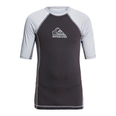 QUIKSILVER - BACKWASH - Rashguard - Junior - sleet heather