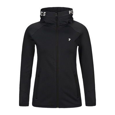 PEAK PERFORMANCE - W Rider Zip Hood Black Femme Black