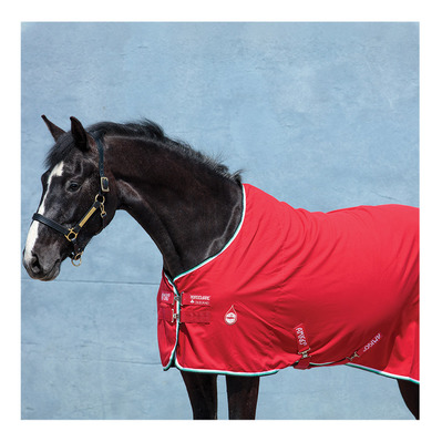 HORSEWARE - Amigo Stable Sheet X Sur Poly Unisexe Red, White, Green & Black