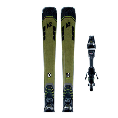 K2 - DISRUPTION 78 Ti MXC 12 TCx LIGHT QUIKCLIK black - yellow SET Homme